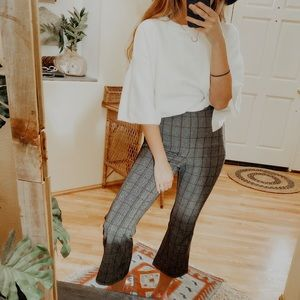Wild Fable Plaid Cropped Flared Pants